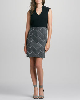 4.collective Parque Sleeveless Combo Dress