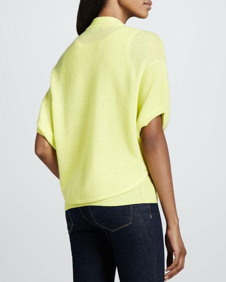 Cashmere Short-Sleeve Bolero