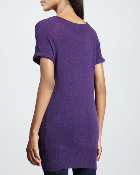 Short-Sleeve Cashmere Tunic