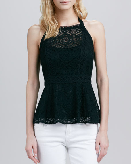 Must-See Lace Peplum Top