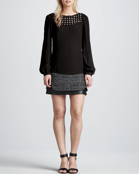 Coletta Bonded Raffia Skirt