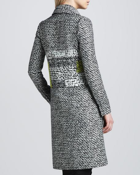 Nala Colorblock Tweed Coat