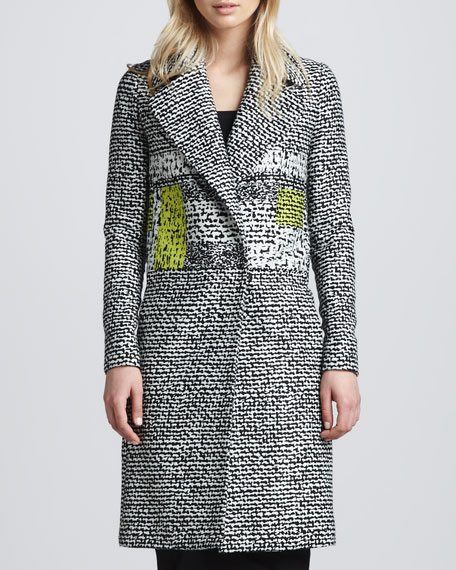 Nala Colorblock Tweed Coat