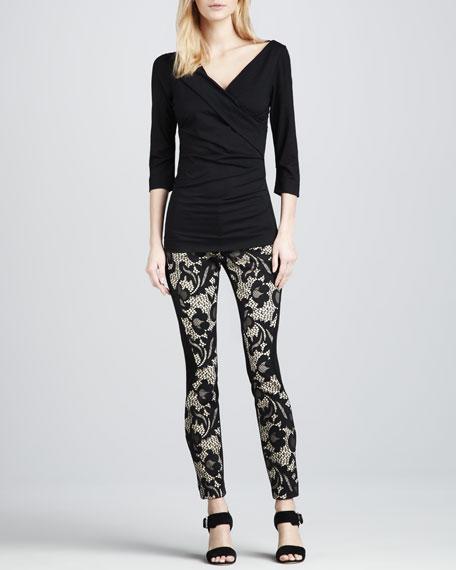 Harmony Paneled Lace Ankle Pants