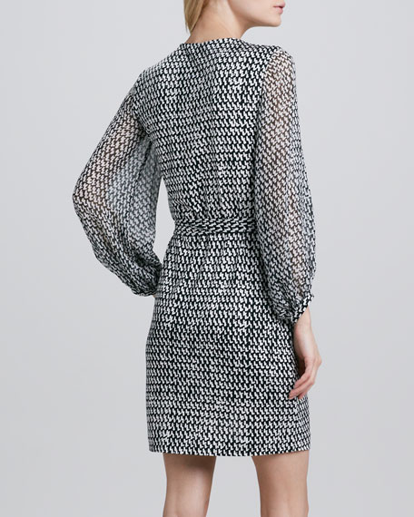 Sigourney Printed Wrap Dress