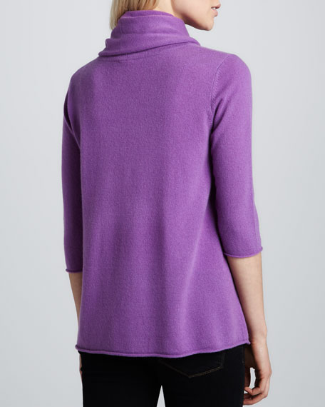 Three-Quarter Sleeve Cashmere Sweater