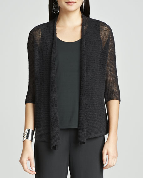 Cropped Sheer Cardigan