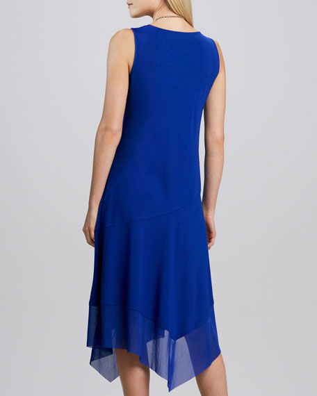 Asymmetric Sheer-Hem Dress