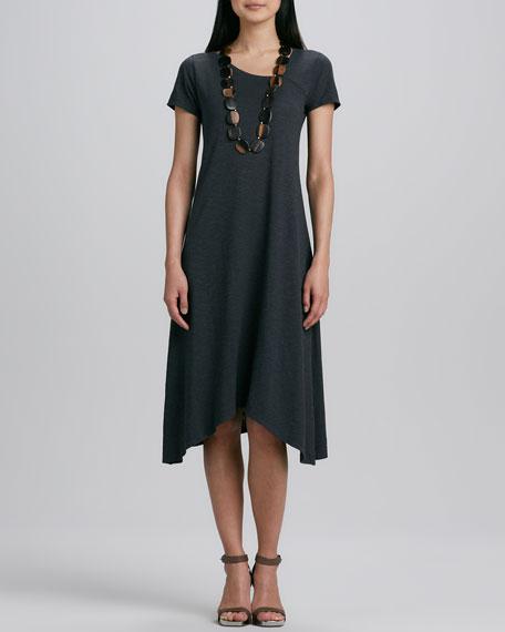 Hemp Jersey Handkerchief Dress, Petite