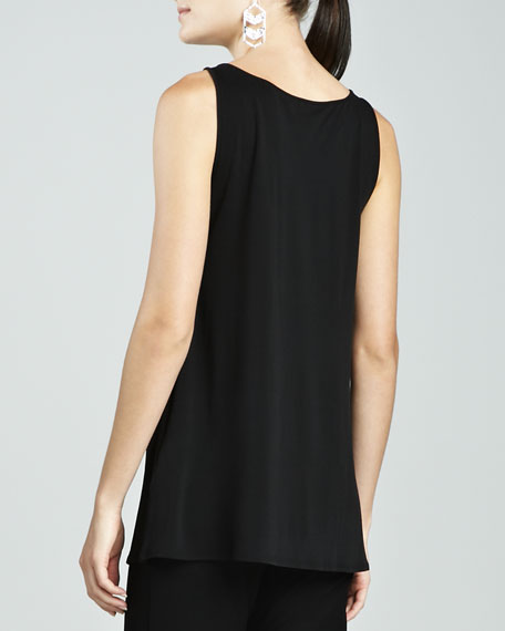 Silk Jersey Tunic-Length Tank