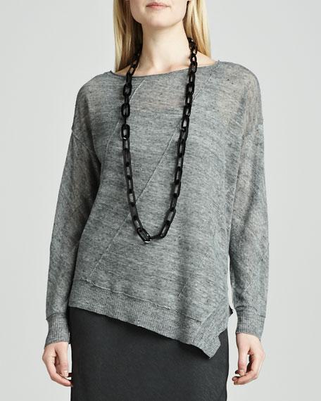 Linen Jersey Asymmetric Top