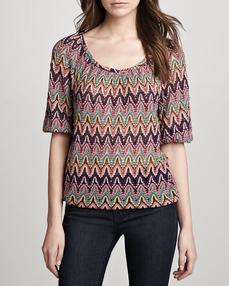 Alusian Zigzag-Knit Top