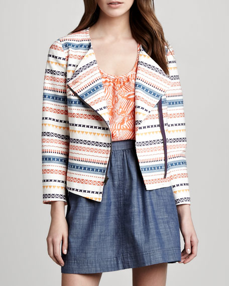 Beatrix Kilim-Stripe Jacket