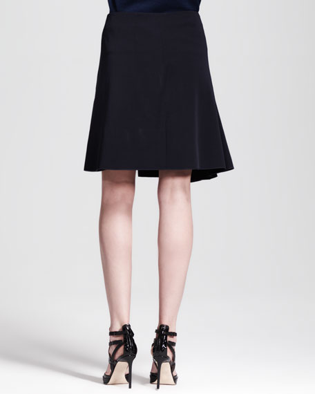A-Line Paneled Wrap Skirt