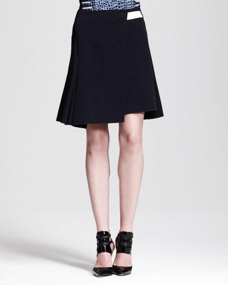 A-Line Paneled Wrap Skirt