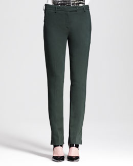 Reed Krakoff Slim Split-Cuff Pants