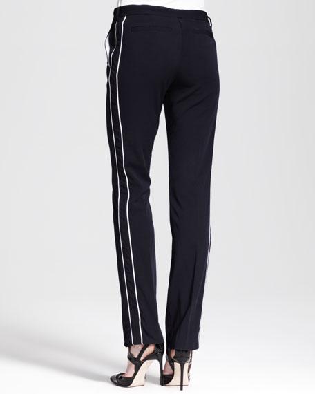 Slim Contrast-Stripe Tuxedo Pants