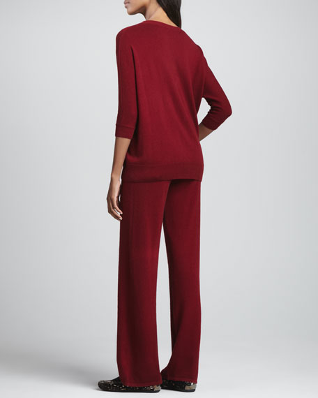 Two-Piece Cashmere Top & Pants Set