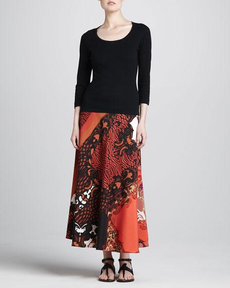 Nouveau Deco-Print Maxi Skirt