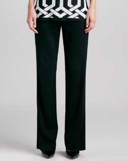 Misook Boot-Cut Knit Pants, Women's
