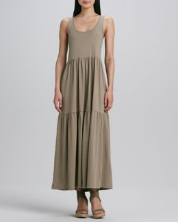 Joan Vass Tiered Long Tank Dress, Women's