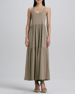 Joan Vass Tiered Long Tank Dress