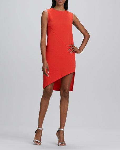 Sleeveless Asymmetric-Hem Dress
