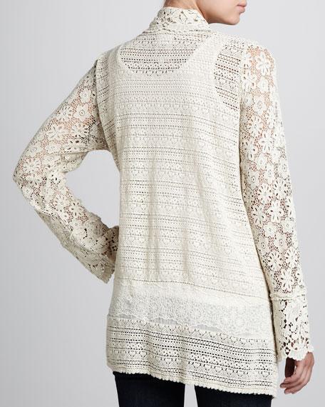 Flower Tiles Crochet Jacket, Women's