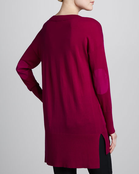Tunic Sweater with Elbow Patches