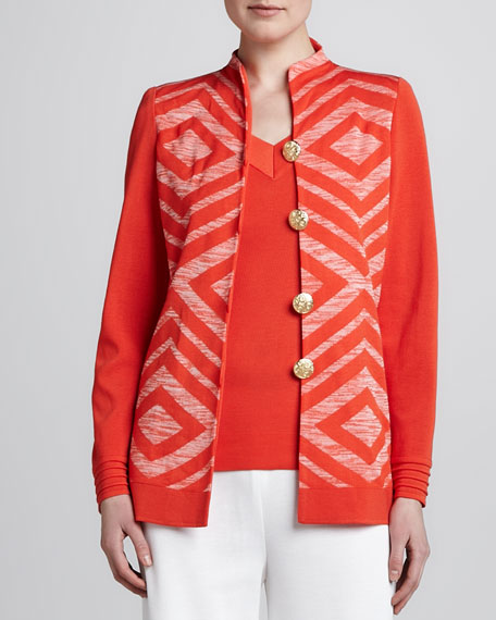 Inez Four-Button Knit Jacket, Women's