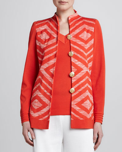 Misook Inez Four-Button Knit Jacket