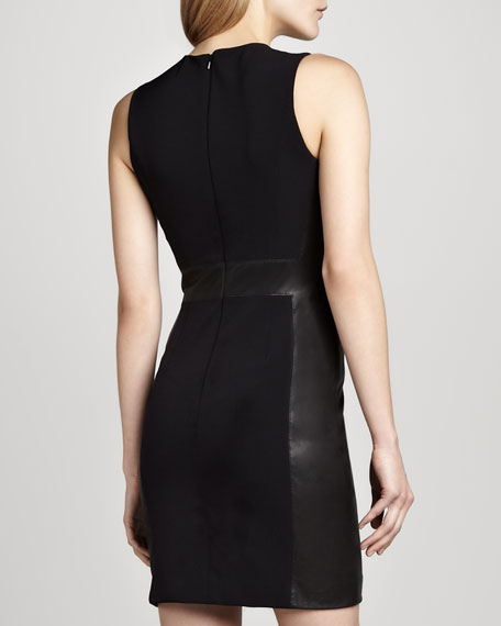Taline Ponte/Leather Dress