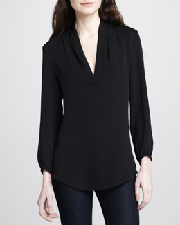 Theory Helona V-Neck Blouse
