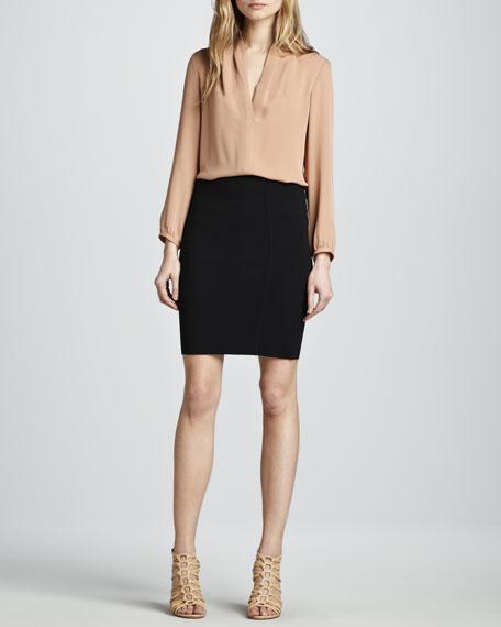 Brookelles Jersey Pencil Skirt