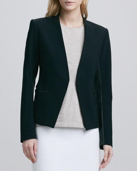 Lanai Leather-Trim Jacket