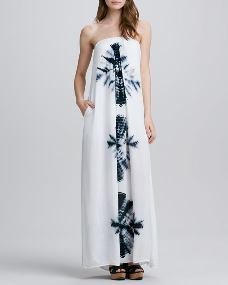 Karissa Printed Strapless Maxi Dress