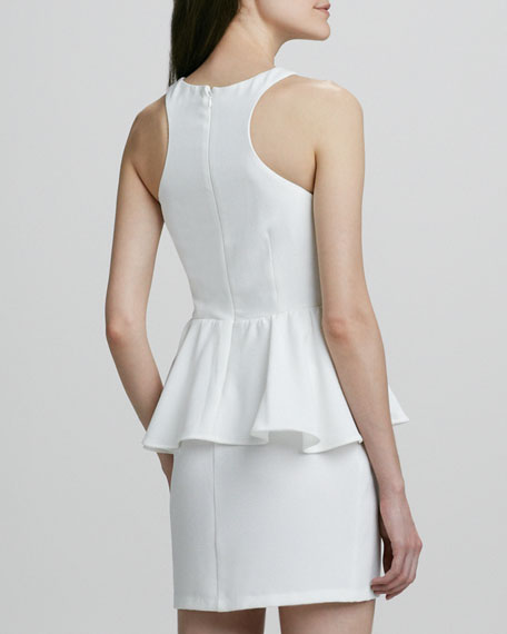 Jasper Draped-Peplum Dress