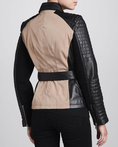 Colorblock Belted Jacket