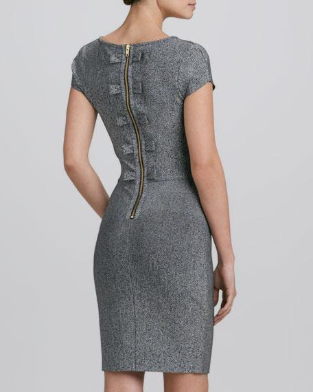 Scoop-Neck Heather Knit Dress