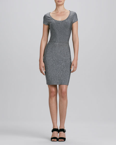 Scoop-Neck Heather Knit Dress