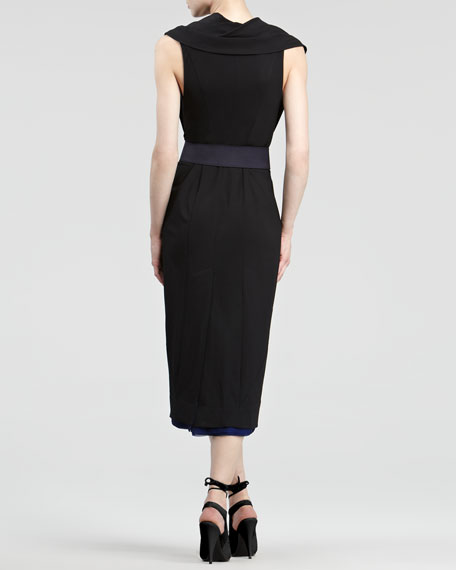 Contrast Jersey Wrap Dress