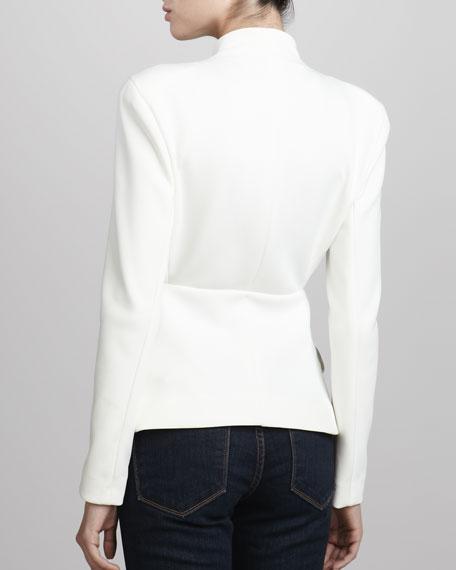 Crepe Bow-Waist Jacket