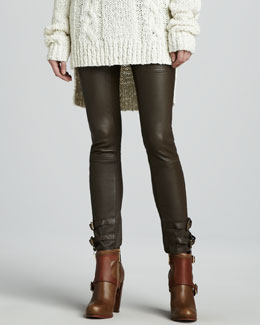 Rachel Zoe Belted Leather Pants