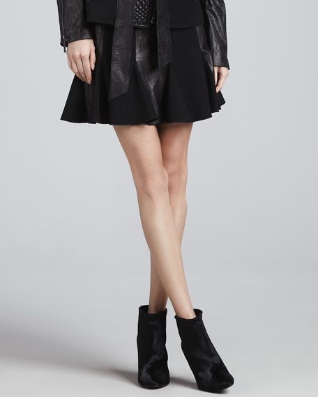 Alala Leather/Ponte Skirt