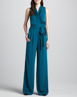 Catherine Malandrino Favorites Stretch-Silk Jumpsuit