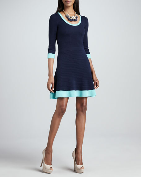 Gabriella Ribbed Colorblock Dress