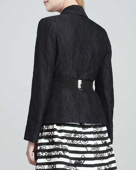 Campbell Lace Blazer, Black