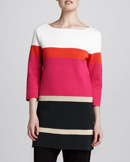 Joan Vass Striped Tunic