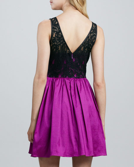 Lace Bodice Party Dress