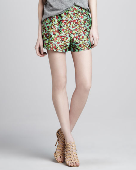 Jody Floral-Print Shorts